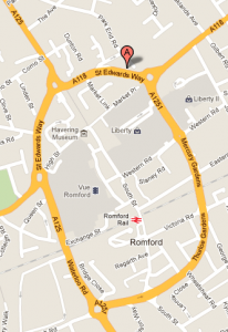 Street map of Church in Romford